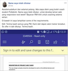 Contoh yg bagus. Bila dah solved, update POST & announce. So orang tau case closed.