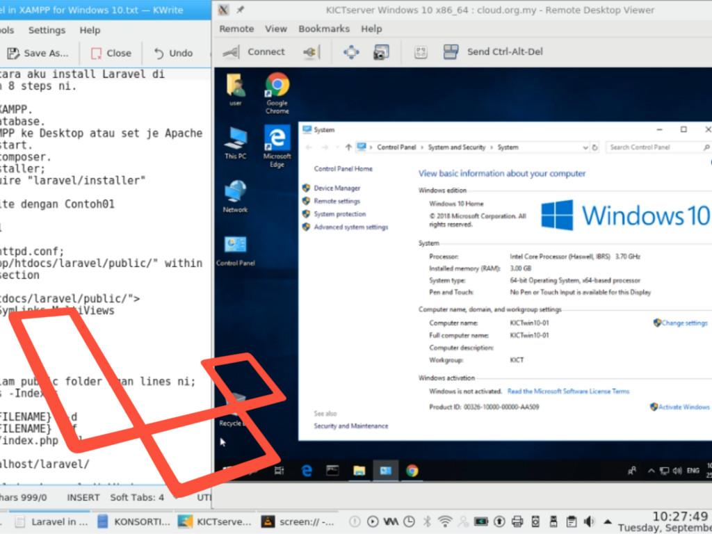 Install Laravel + XAMPP di Windows10